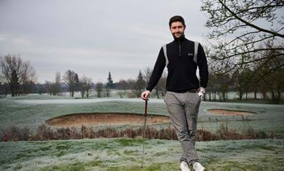 golfer posing for photo dunston hall