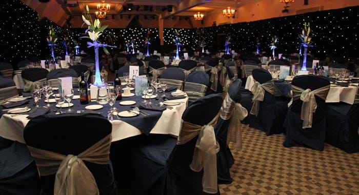 starcloth banquet set up dunston hall